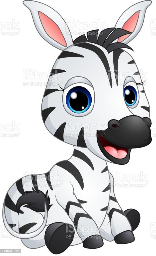 Cute Baby Zebra Cartoon Stock Illustration - Download ...