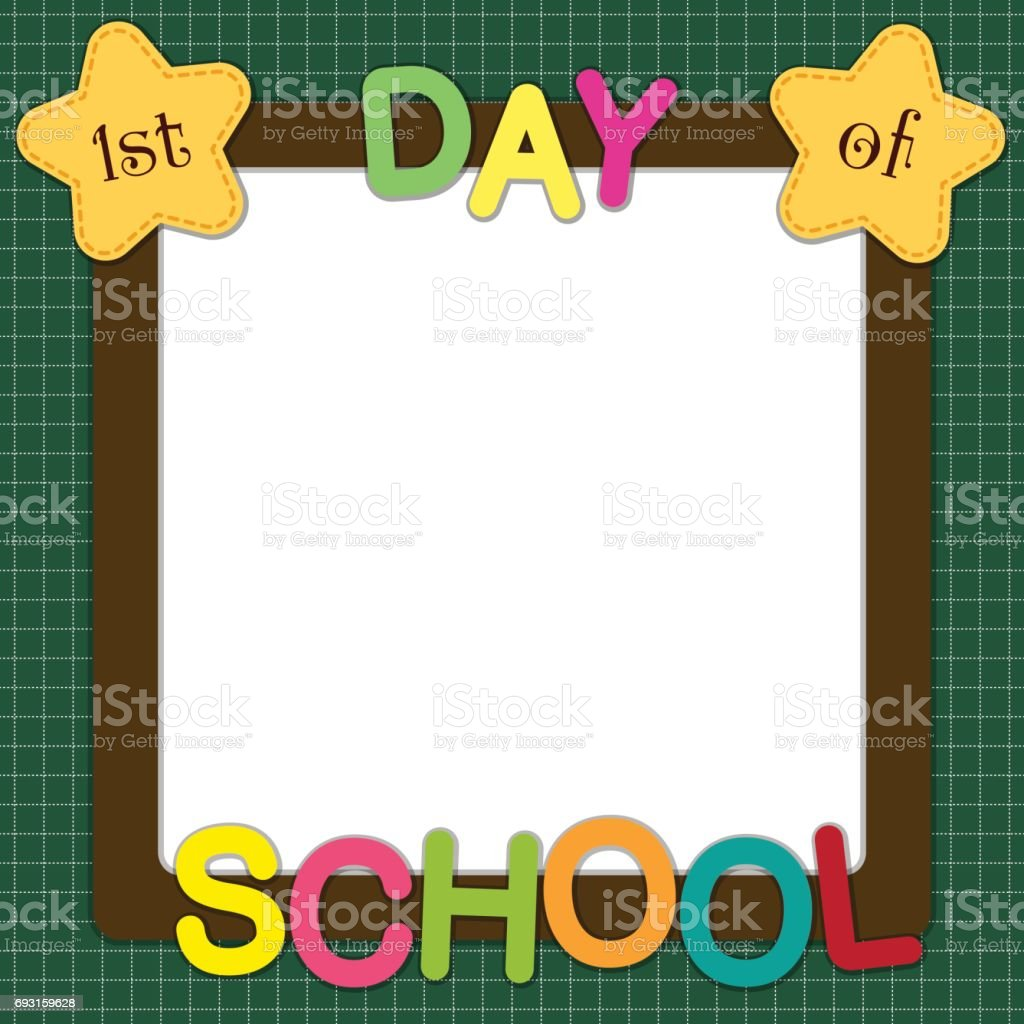 Cute Back To School Theme Frame Stock Vector Art & More Images of ...