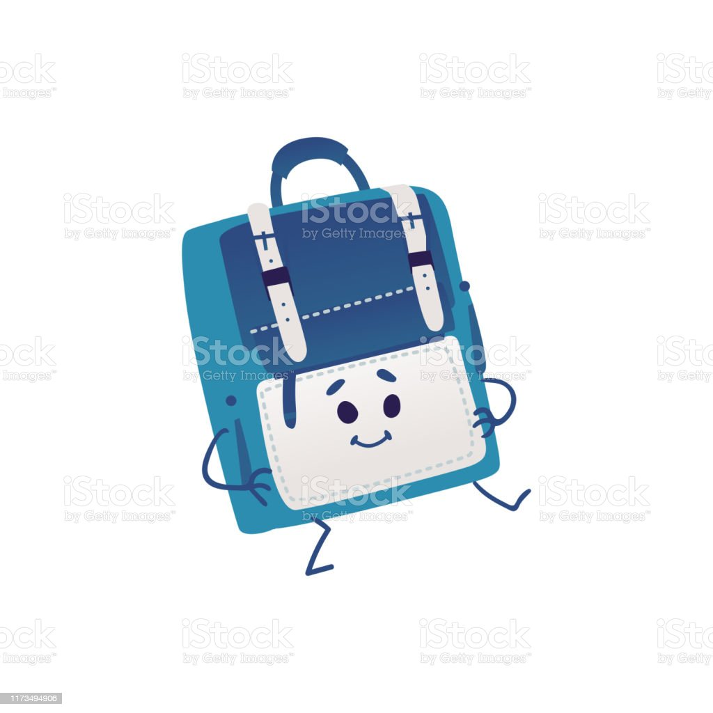 Cute Backpack Cartoon Character Dancing Isolated On White Background Stock Illustration Download Image Now Istock