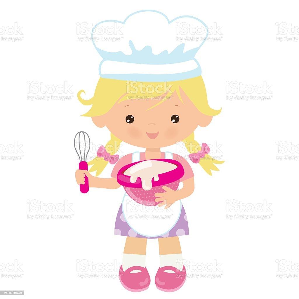 cute baker girl vector illustration stock vector art Shoes Clip Art Hair in Mirror Clip Art