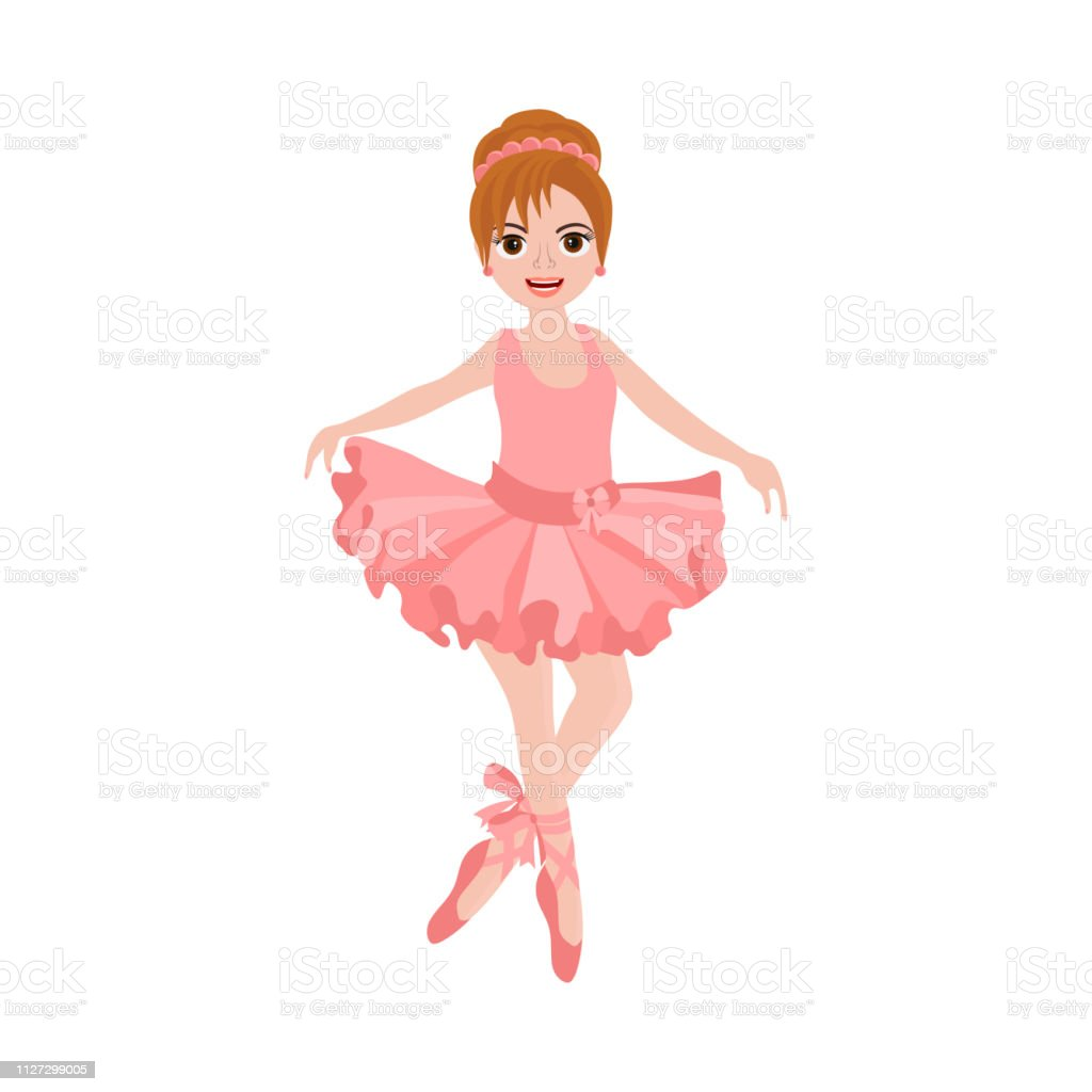 buy online 7206f ca119 Cute Ballerina In Pink Tutu Stock Illustration - Download ...
