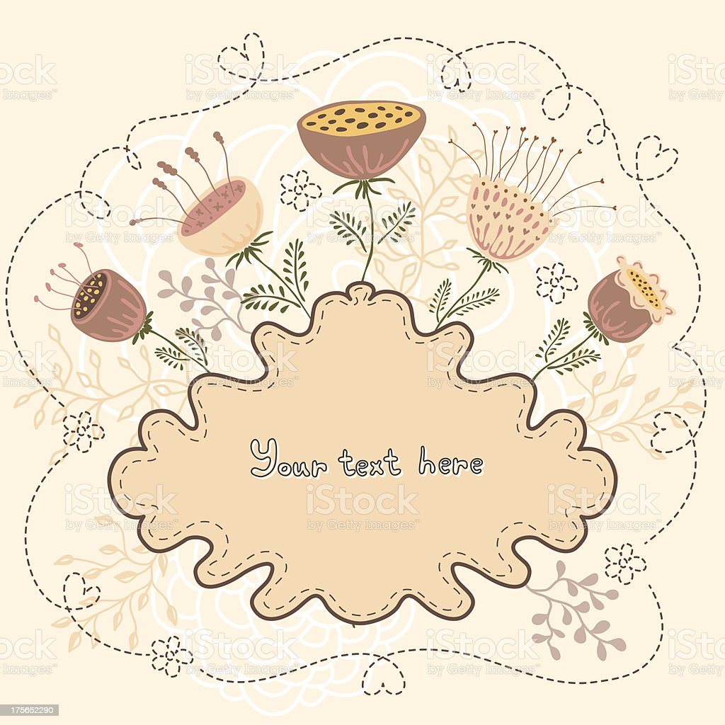Cute banner with flowers. royalty-free stock vector art