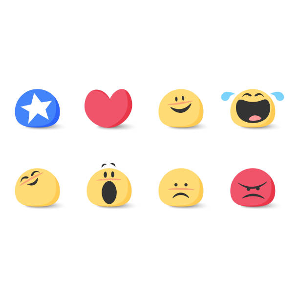 cute basic emoticons set - happy emoji stock illustrations, clip art, cartoons, & icons