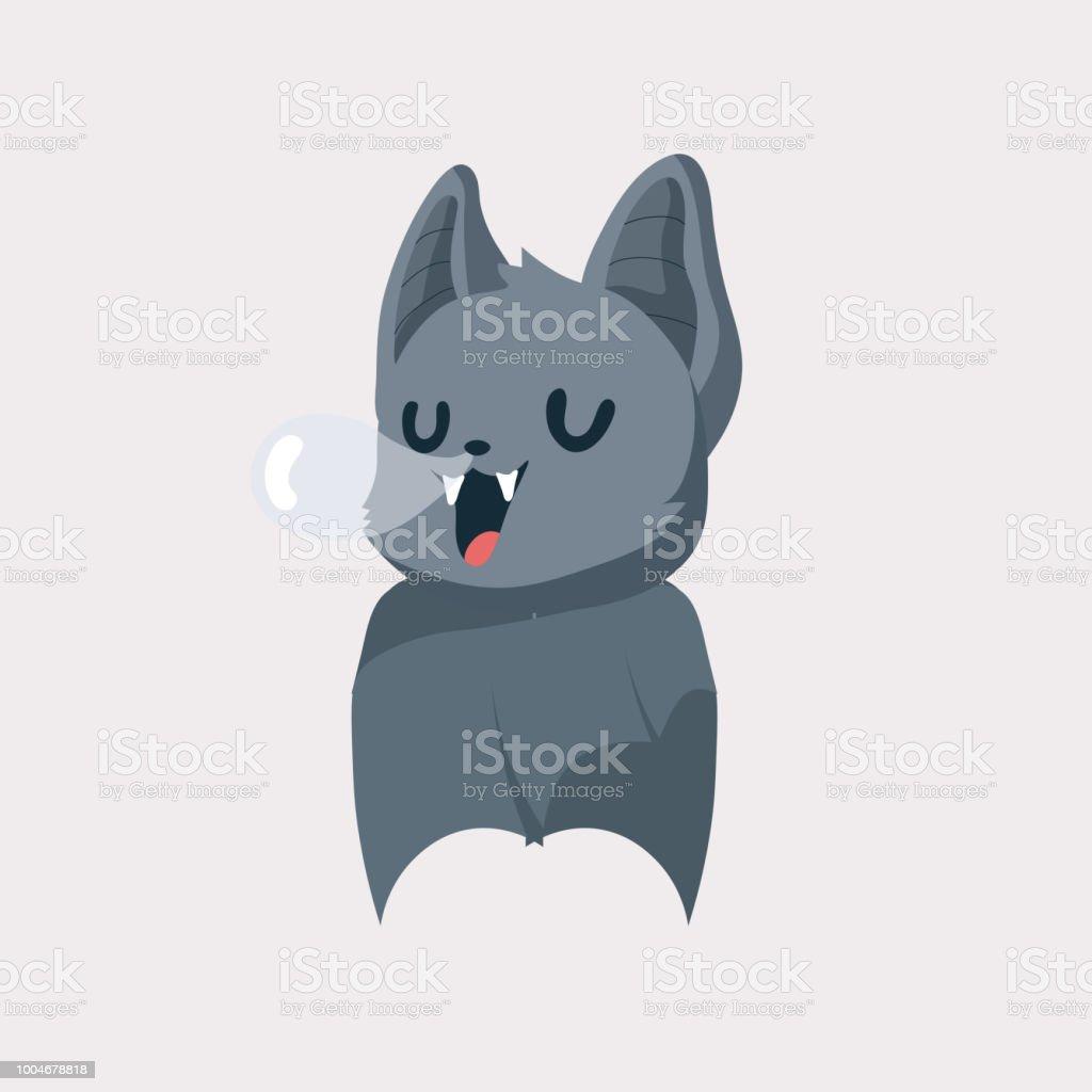 A Picture Of A Cartoon Bat cute bat cartoon stock illustration - download image now