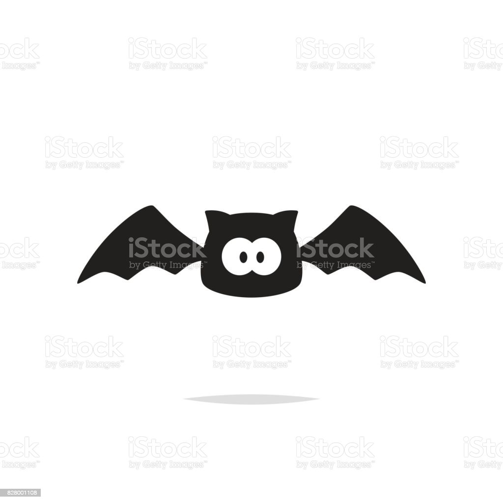 Cute bat vector isolated vector art illustration