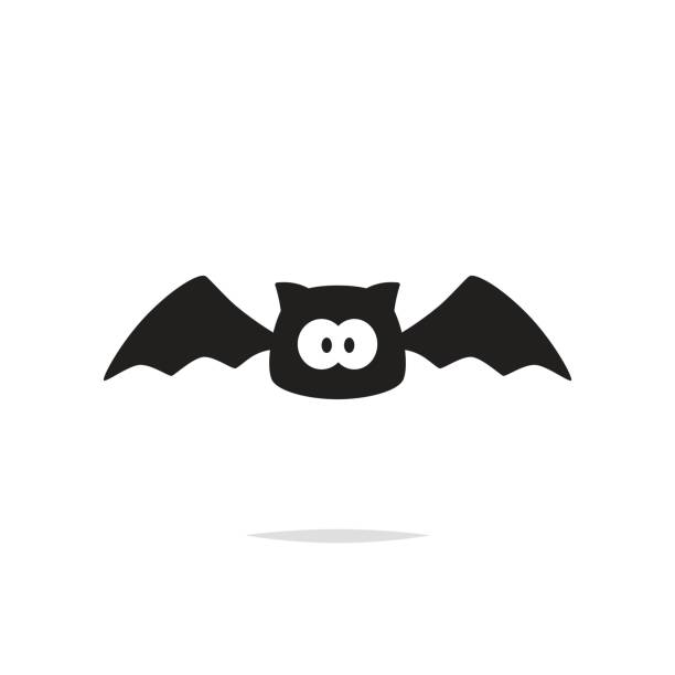 cute bat vector isolated - bat stock illustrations, clip art, cartoons, & icons