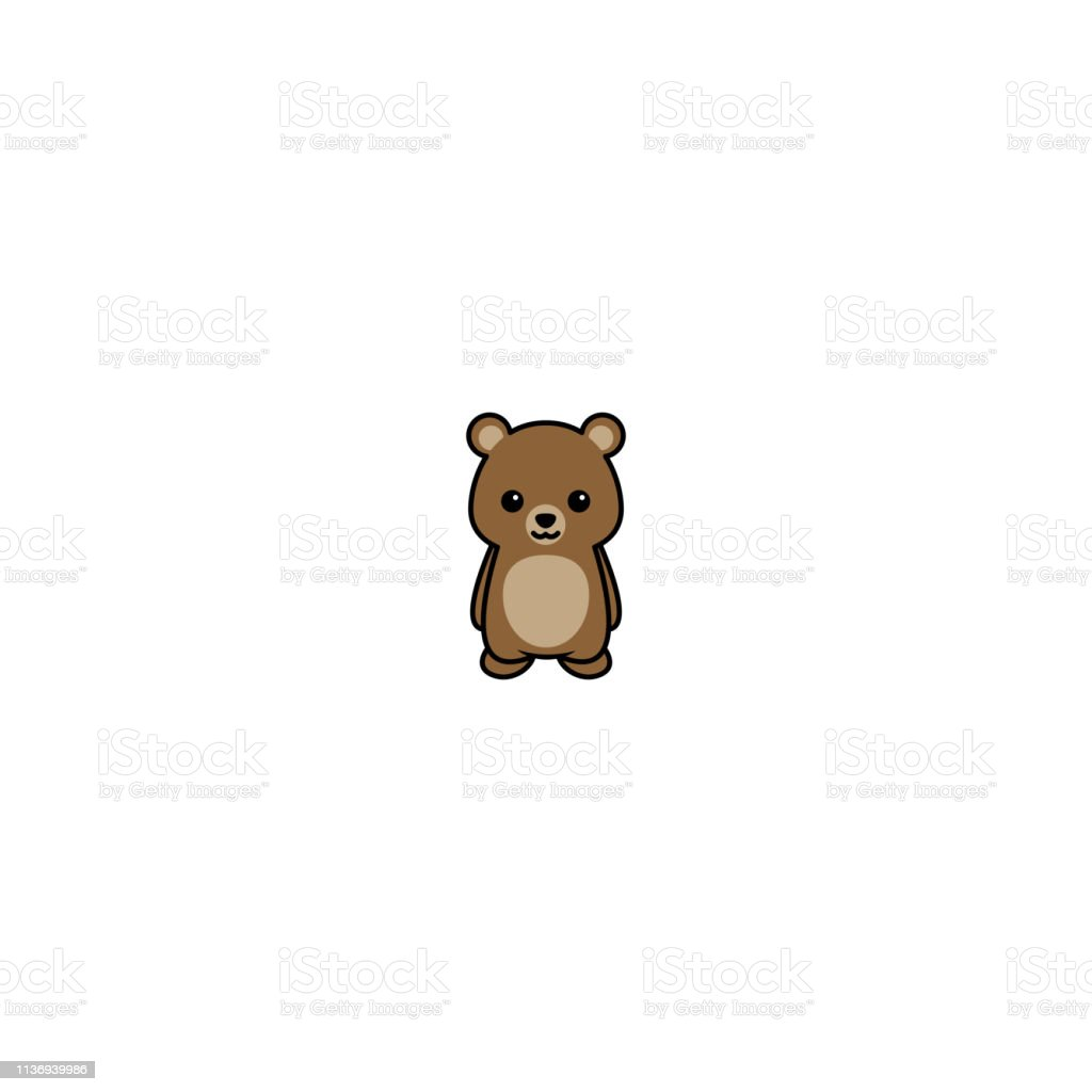 Cute Bear Cartoon Icon Vector Illustration Stock Illustration Download Image Now Istock