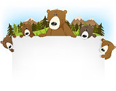 Cute Bear Family Background