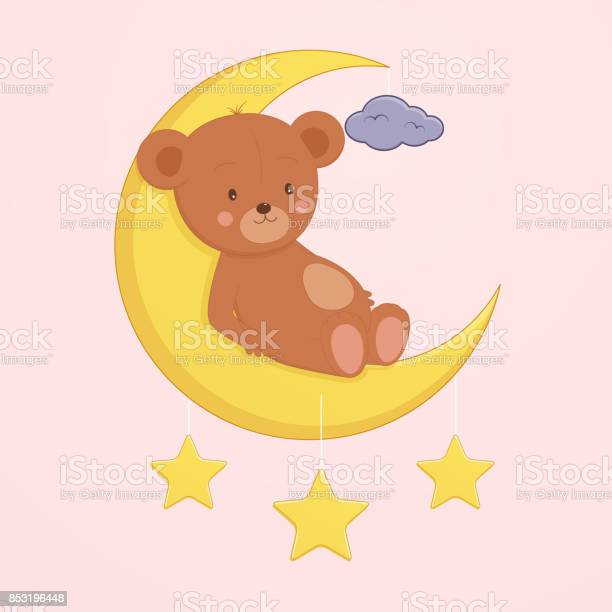Cute bear is sitting on moon childrens design for tshirts gift card vector id853196448?b=1&k=6&m=853196448&s=612x612&h=7iqf 9npobmy5 zwegl9nrzf6hunm0bjxhttof3oxrs=