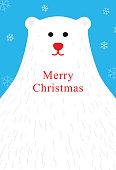cute bear Merry Christmas, greeting card, vector