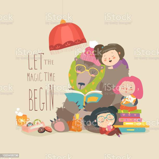 Cute bear reading book for little girls vector id1053458236?b=1&k=6&m=1053458236&s=612x612&h=loshiostzwrnysjcqyq6uuh3ph4ovox8iimnwymse 8=