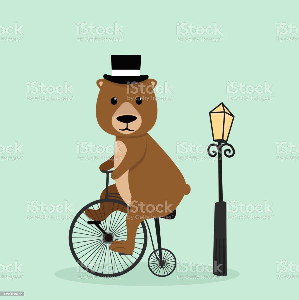 Cute bear riding a bycicle cute bear riding a bycicle - stockowe grafiki wektorowe i więcej obrazów bez ludzi royalty-free