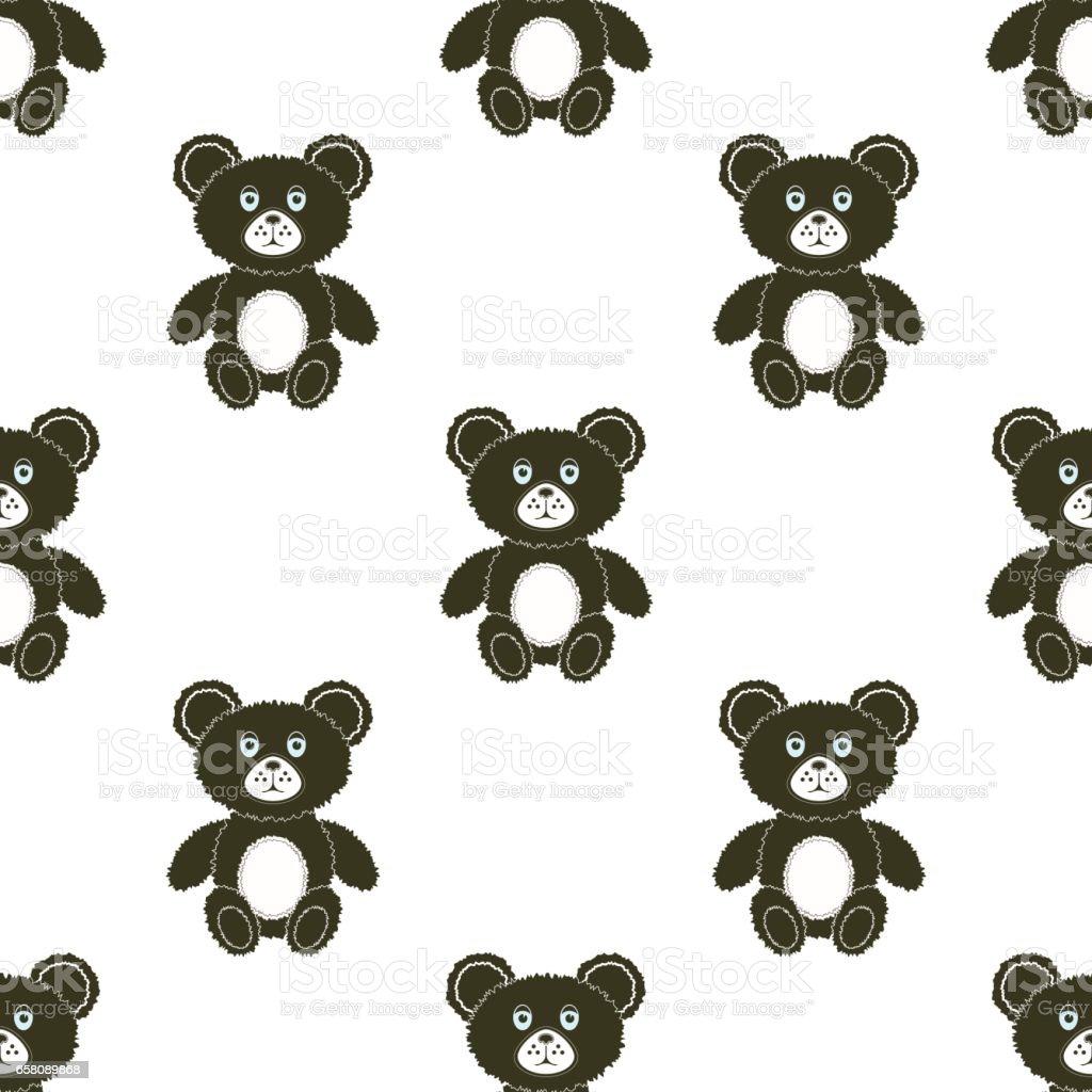 Cute Bear Seamless Pattern royalty-free cute bear seamless pattern stock vector art & more images of animal