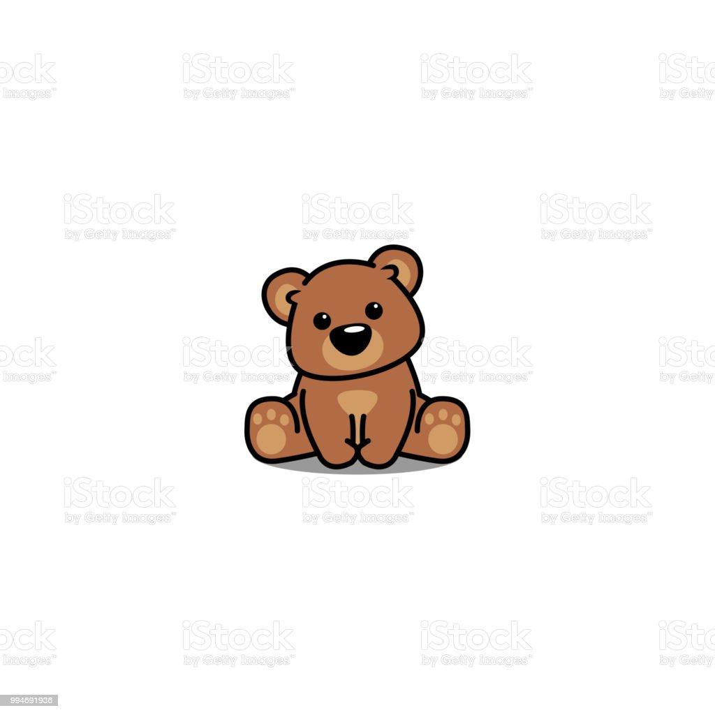 かわいいクマさんが座ってベクトル イラスト おもちゃのベクターアート素材や画像を多数ご用意 Istock