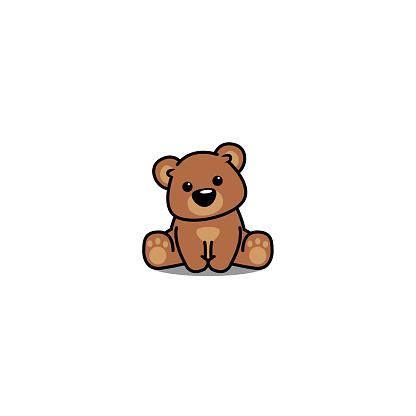 可愛的熊坐 向量例證向量圖形及更多動物圖片