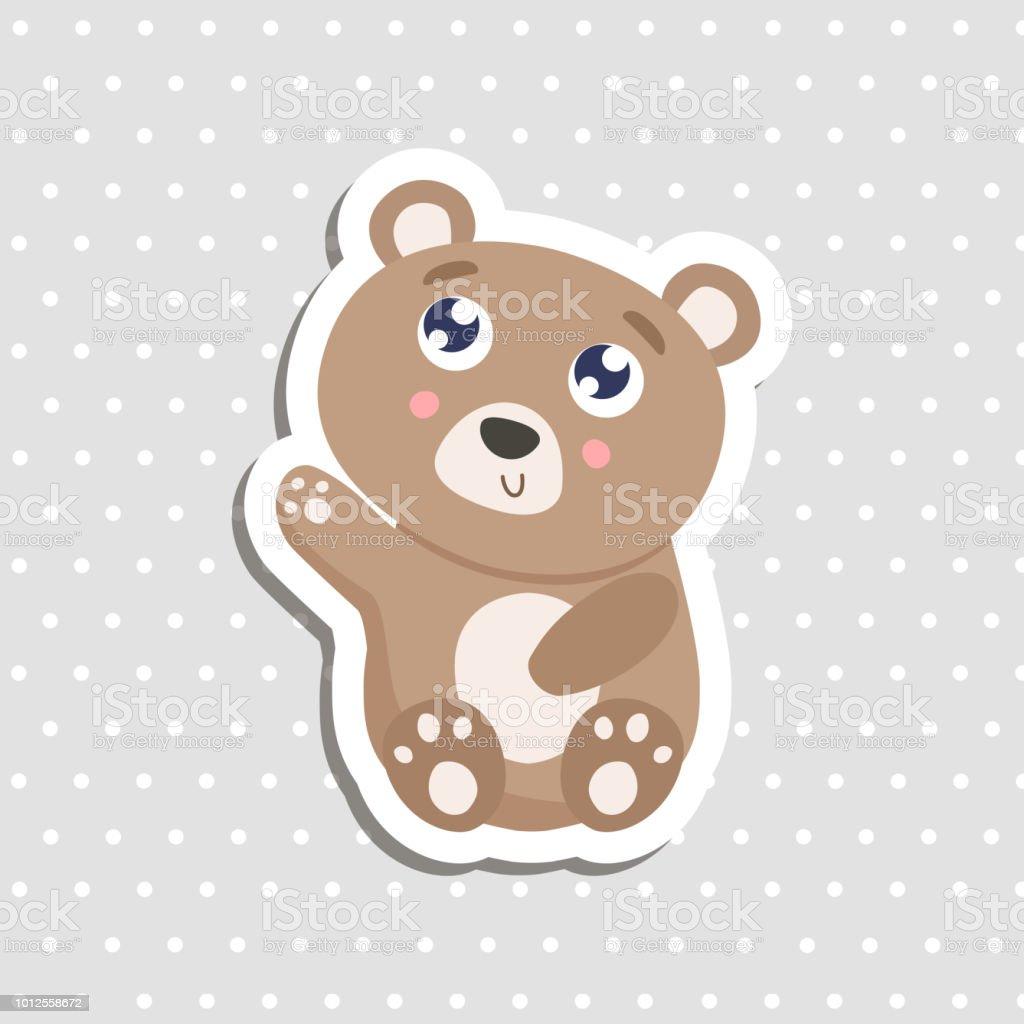 かわいいクマさんステッカー ベクトル イラスト アイコンのベクターアート素材や画像を多数ご用意 Istock