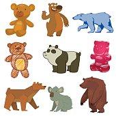 Cute bear vector illustration.