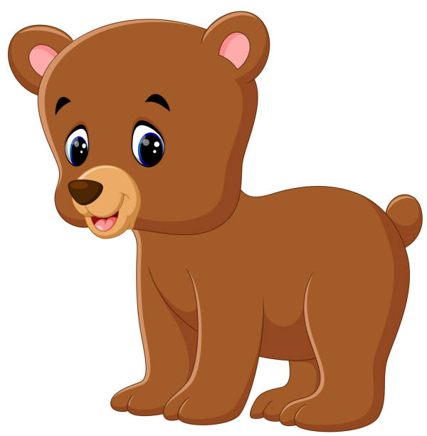 Royalty Free Brown Bear Cub Clip Art, Vector Images ...