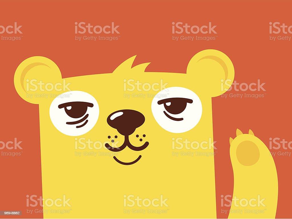 Cute bear waving royalty-free cute bear waving stock vector art & more images of animal
