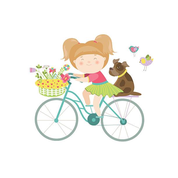 sexy schöne mädchen im kleid fährt ein fahrrad - lustige fahrrad stock-grafiken, -clipart, -cartoons und -symbole