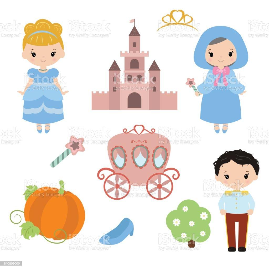 Süße Prinzessin – Vektorgrafik