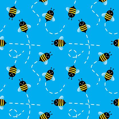 Cute Bee Pattern Flying