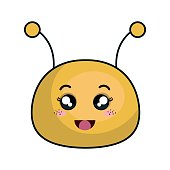 cute bee stuffed icon vector illustration design