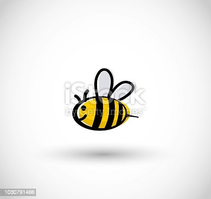 Cute bee vector illustration comic style
