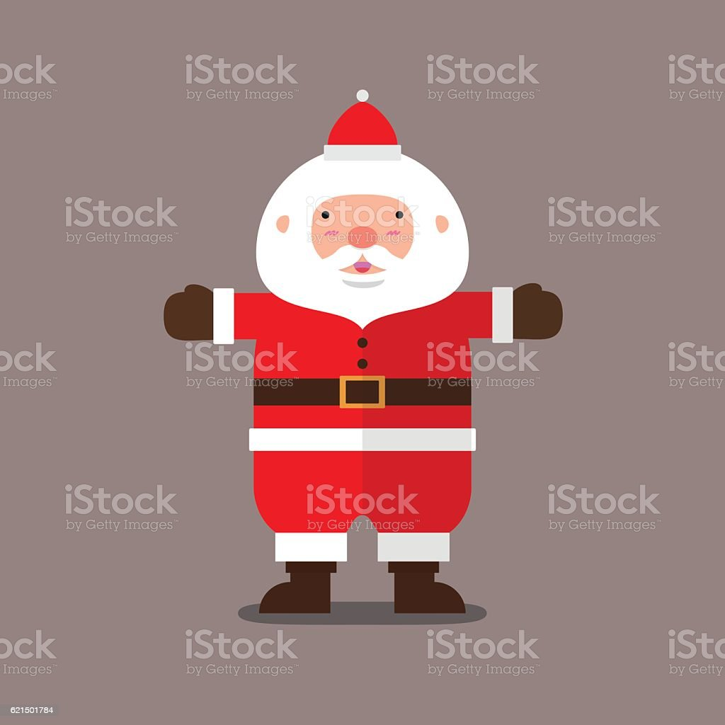 cute big fat Santa Claus flat design cute big fat santa claus flat design – cliparts vectoriels et plus d'images de art libre de droits