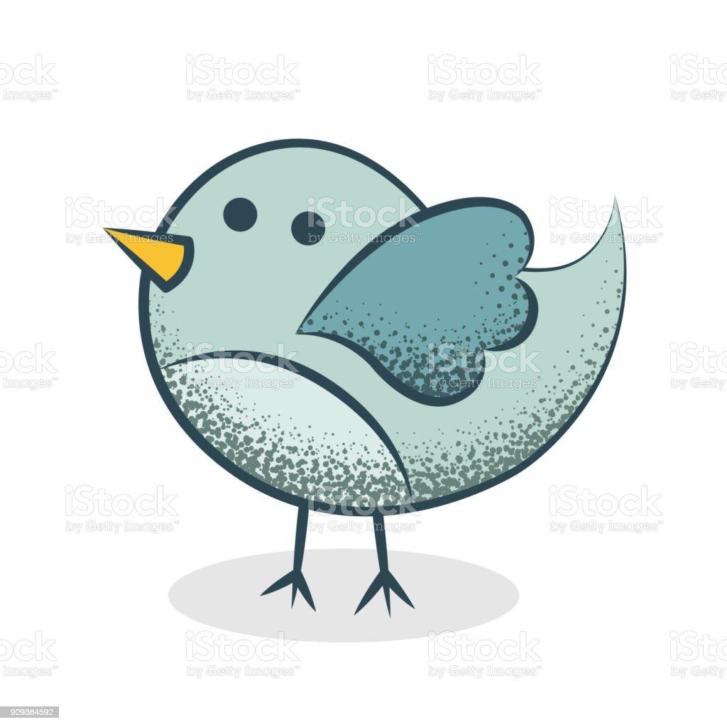 Niedlichen Vogel Illustration Stock Vektor Art und mehr Bilder von ...