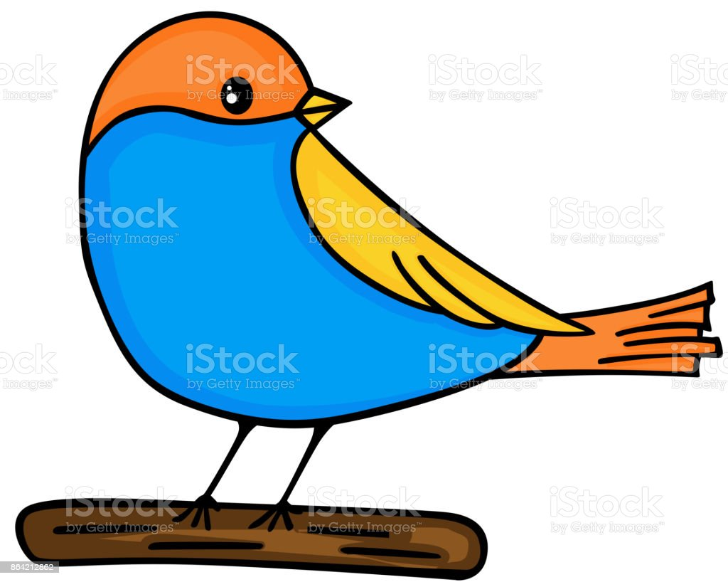 Cute bird on wooden royalty-free cute bird on wooden stock vector art & more images of animal