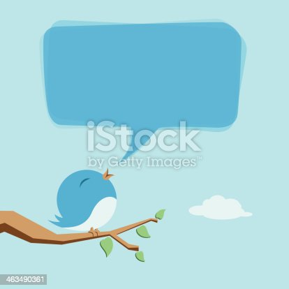 Vector illustration of bird chirping.