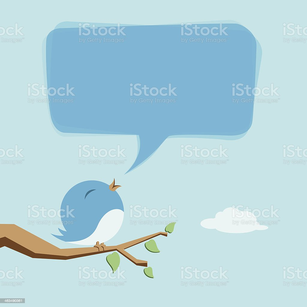 Cute Birdie vector art illustration