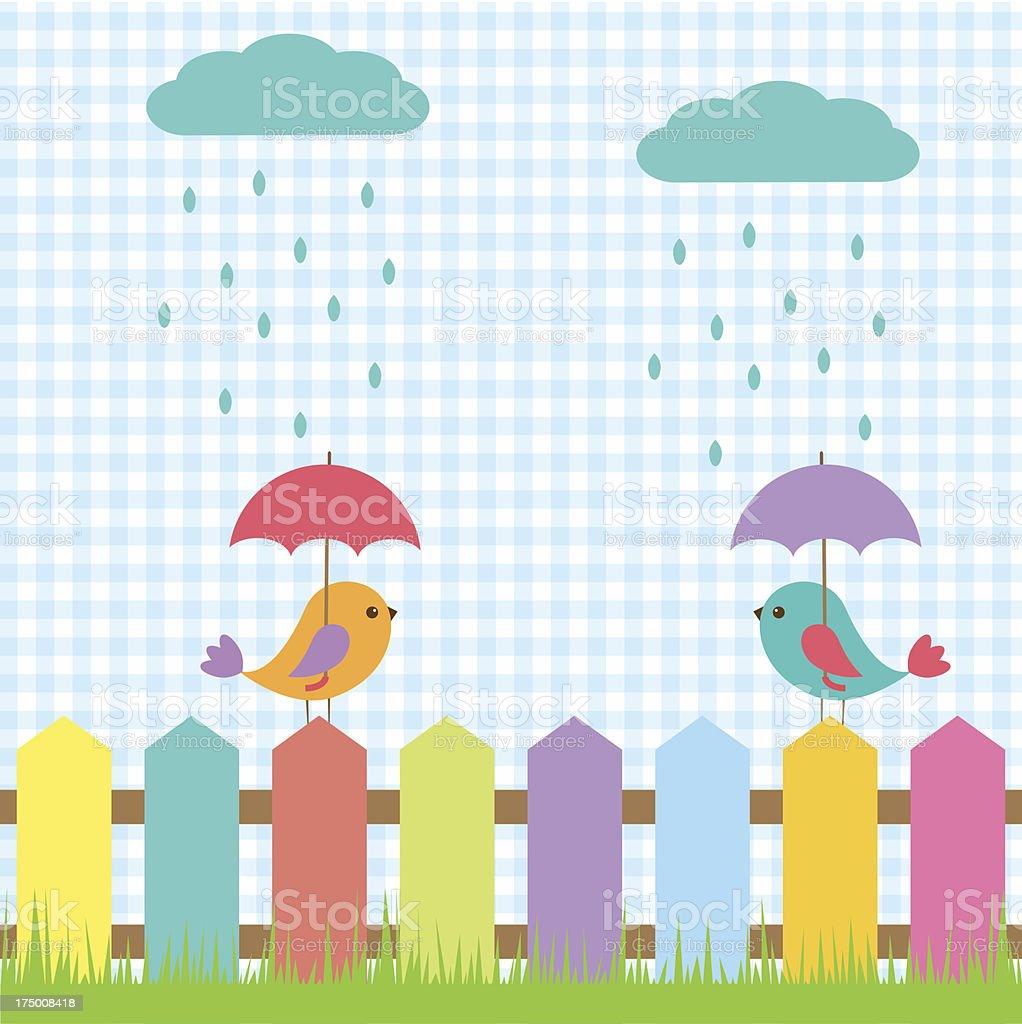 Cute birds under umbrellas royalty-free cute birds under umbrellas stock vector art & more images of animal