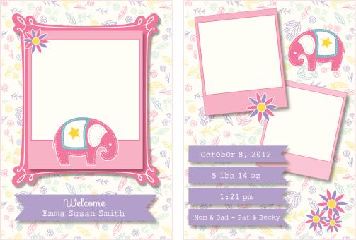 Cute Birth Announcement Template