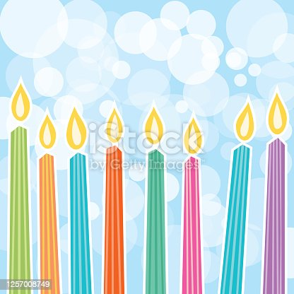 Cute Birthday Candles Background