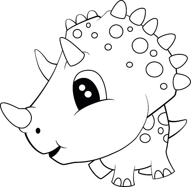 Triceratops Clip Art Vector Images Amp Illustrations