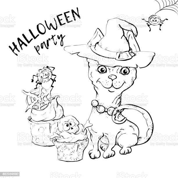 Cute black kitten and dog wearing funny and fancy halloween hats an vector id852059592?b=1&k=6&m=852059592&s=612x612&h=k3iwhzqvnjtfoglqlkpzdefyrsj1u7izmb3 8d05lek=