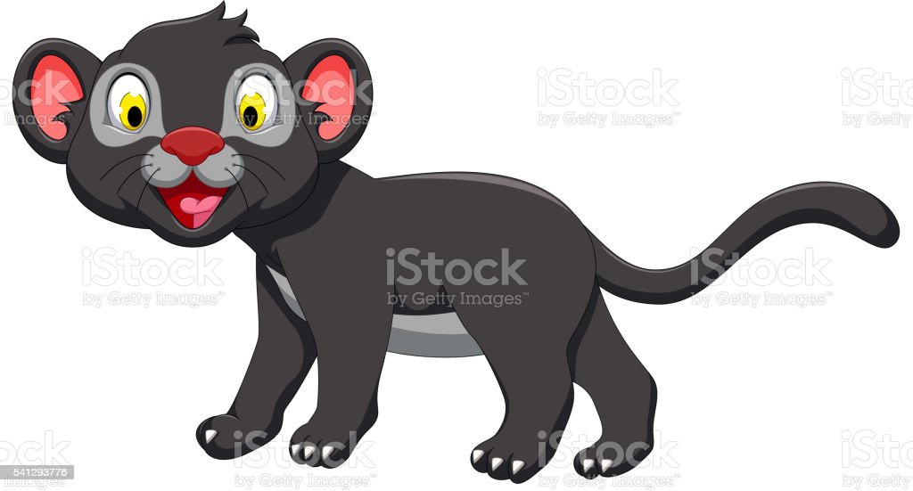 royalty free leopard cubs clip art vector images illustrations rh istockphoto com Panther Head Clip Art Panther NFL Outline Clip Art