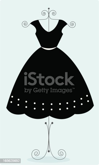 istock Cute black sundress 165625652