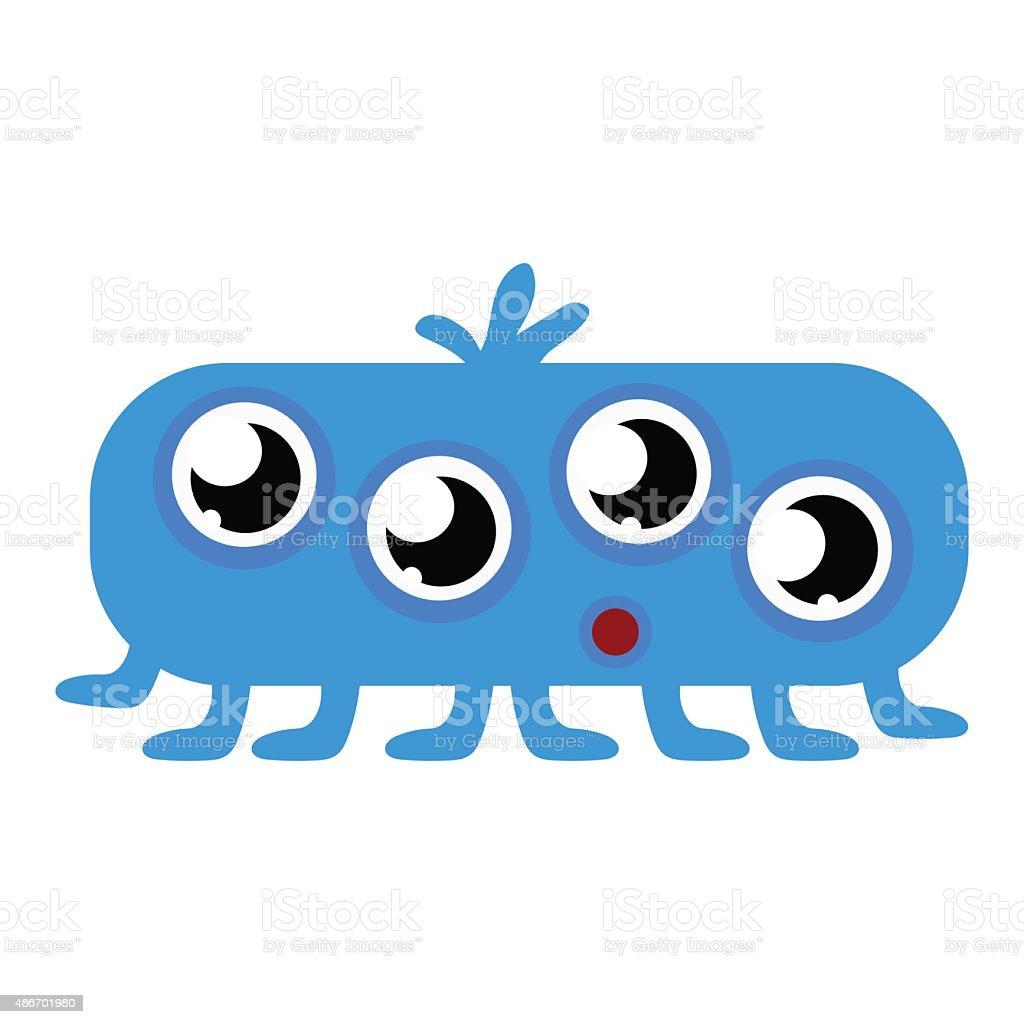 かわいいブルー赤ちゃんのモンスター多くの目 のイラスト素材
