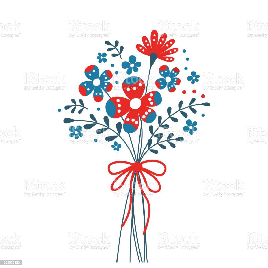 Cute bouquet of decorative flower stock vector art more images of cute bouquet of decorative flower royalty free cute bouquet of decorative flower stock vector art izmirmasajfo