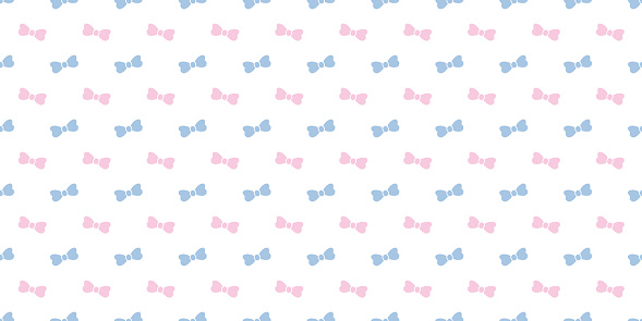 Cute bow seamless repeat pattern background.