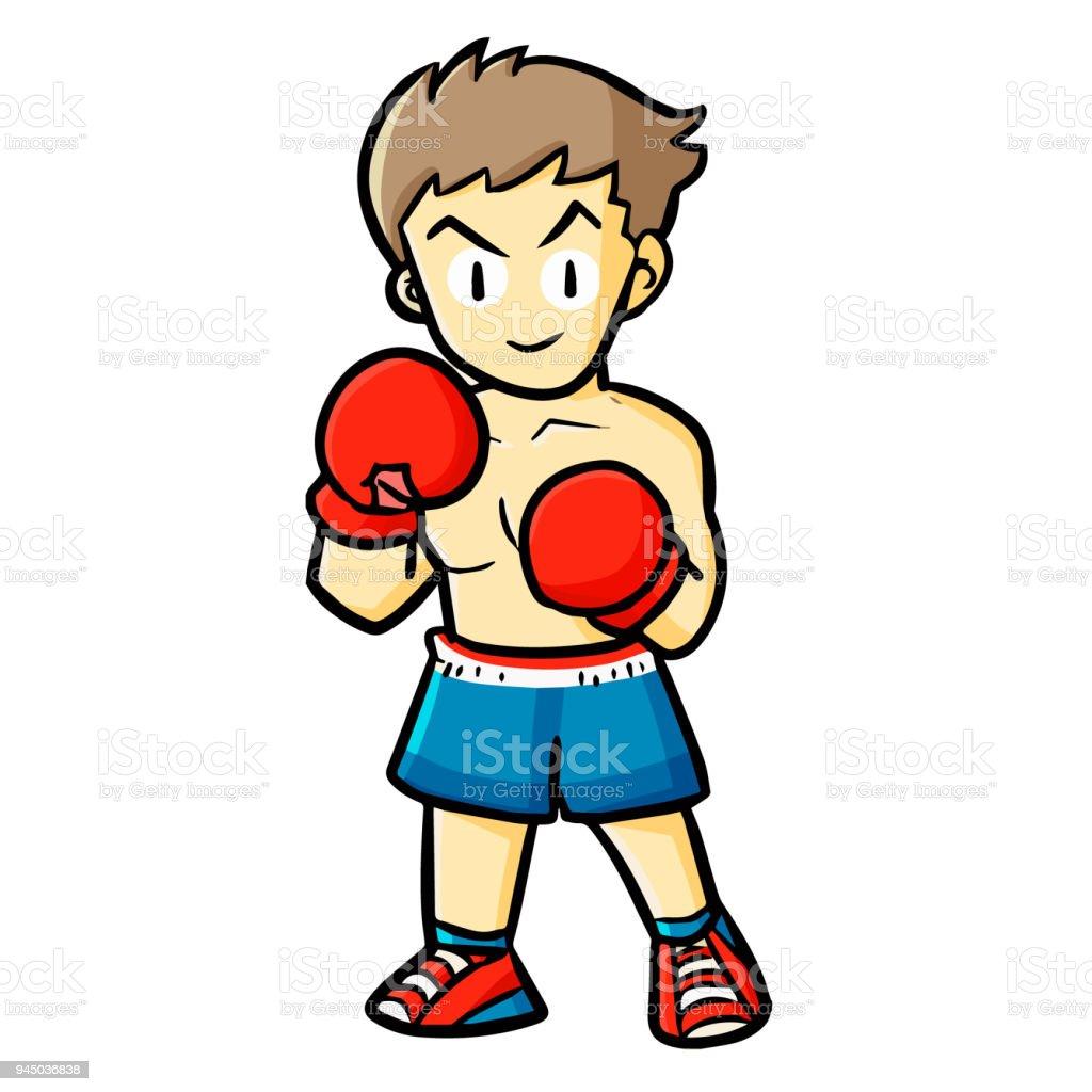 Süße Boxer Bereit Zu Kämpfen Stock Vektor Art Und Mehr Bilder Von