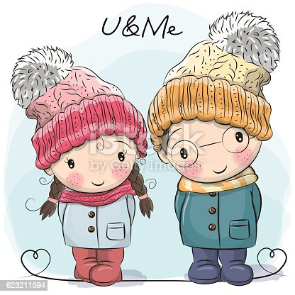 istock Cute Boy and Girl 623211594