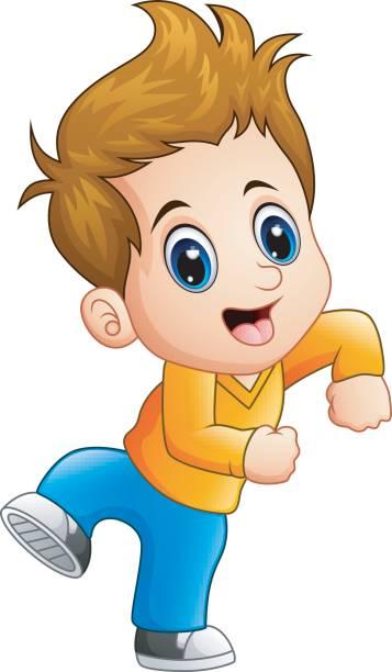 Cartoon Of The Cute Boy Brown Hair Eyes Illustrations Royalty Free