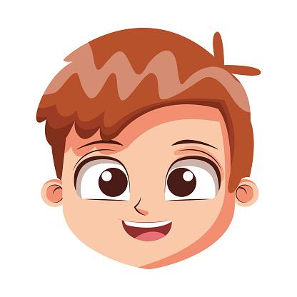 Cute Boy Face Cartoon Stock Illustration - Download Image ...
