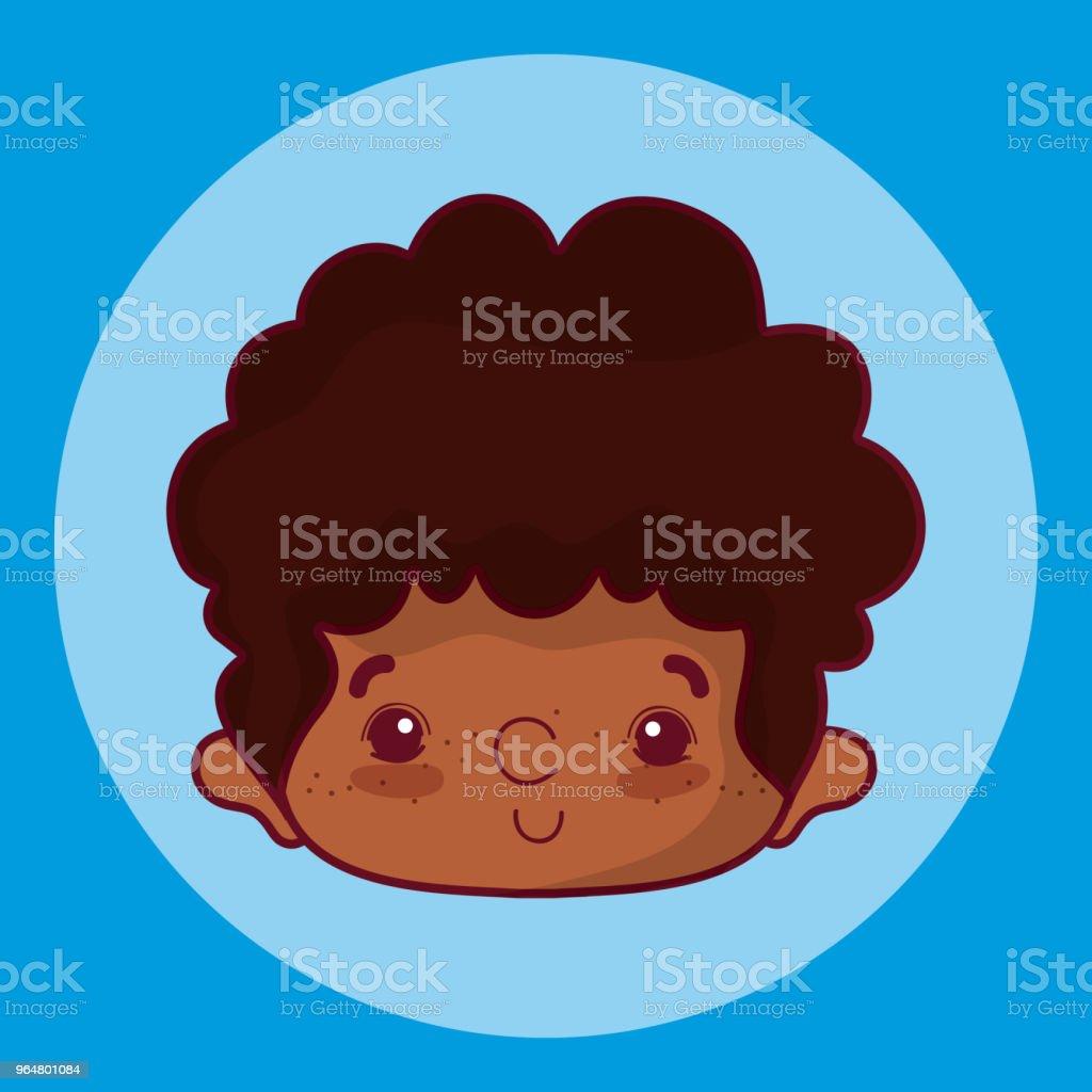 Cute boy face cartoon royalty-free cute boy face cartoon stock vector art & more images of no people