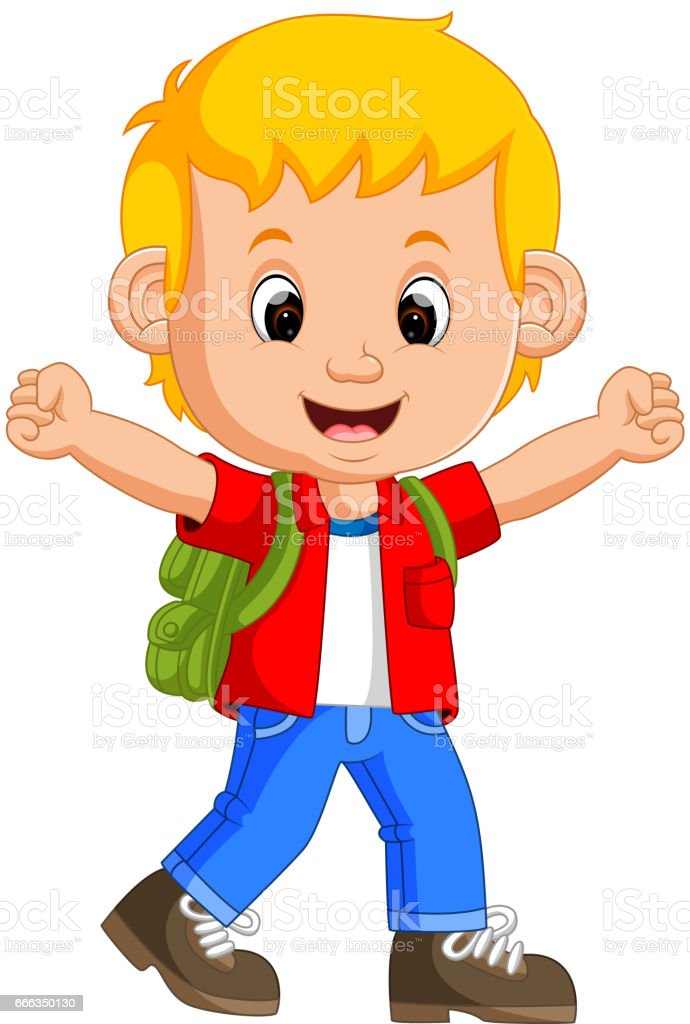 royalty free asian school boy walking clip art vector images rh istockphoto com child going to school clipart boy going to school clipart