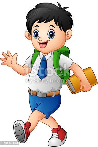 ᐈ Imagen De Dibujos Animados De Niño Leyendo Un Libro